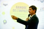 Nicolas Dufourcq, directeur général de Bpifrance, lors de la présentations des résultas de la banque publique, le 30 janvier, à Paris.