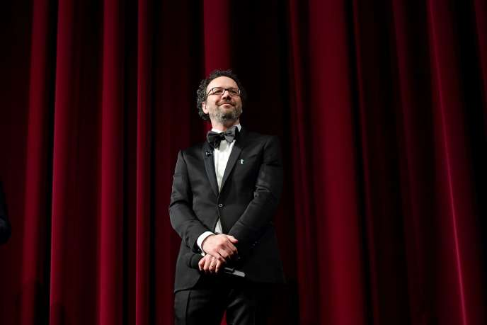 Carlo Chatrian, nouveau directeur artistique du Festival du film de Berlin,lors de la cérémonie d'ouverture de la 70e édition,le 20 février 2020.