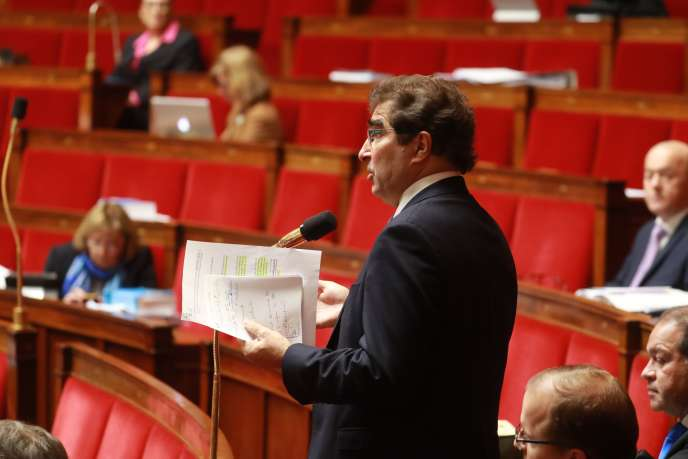 Le président du parti Les Républicains Christian Jacob, à l'Assemblée nationale, à Paris, le 24 février.