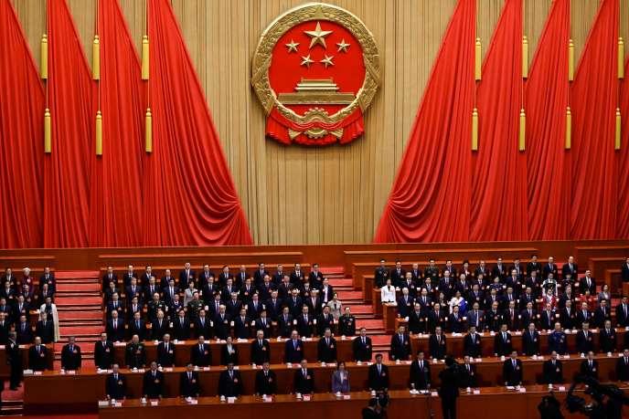 Lors de la session de clôture de la précédente session du Parlement chinois, le 15 mars 2019 à Pékin.