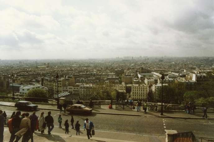Paris vu duSacré-Cœur, en 1989.