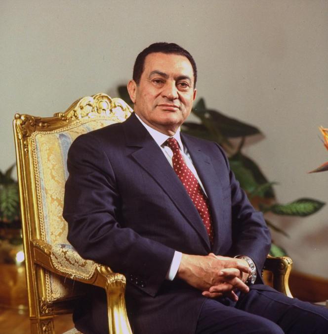 Le président égyptien Hosni Mubarak, au palais présidentiel du Caire, le 29 mars 1993.