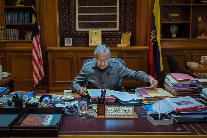 Mahathir Mohamad le 25 février 2020 à Putrajaya, en Malaisie.