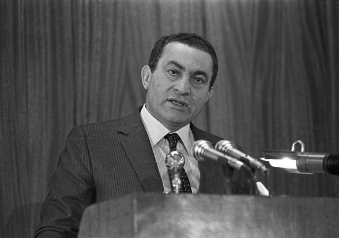 L'ancien président égyptien Hosni Moubarak au Caire en 1985.