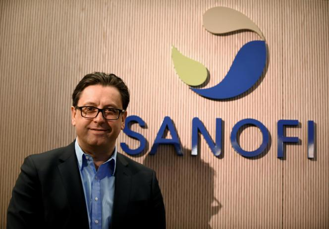 Le patron du groupe pharmaceutique français Sanofi, Paul Hudson, à Paris, le 6 février.