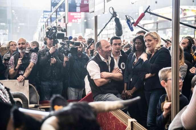 Marine Le Pen, présidente du Rassemblement national, au Salon de l'agriculture à Paris, le 25 février.