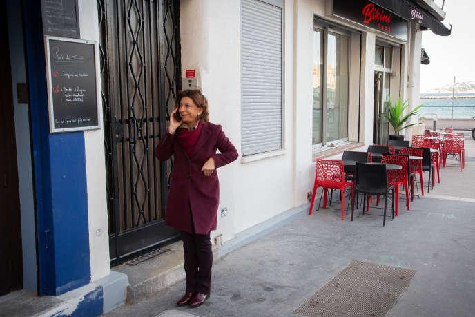 Martine Vassal, candidate LR aux municipales, le 29 janvier à Marseille.