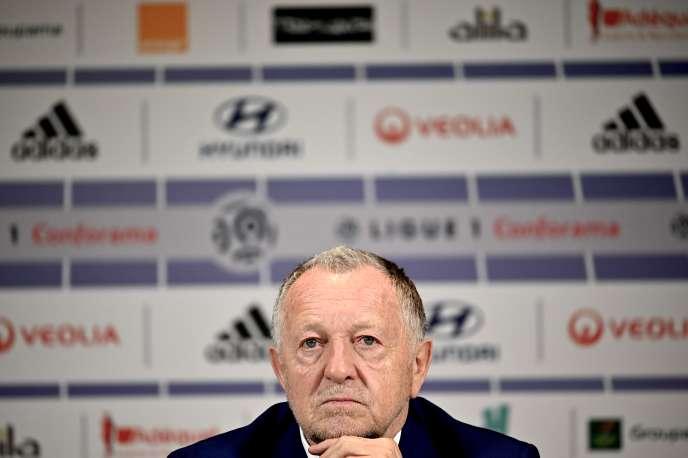 Le président de l'Olympique lyonnais, Jean-Michel Aulas, le 13 février, à Décines-Charpieu.