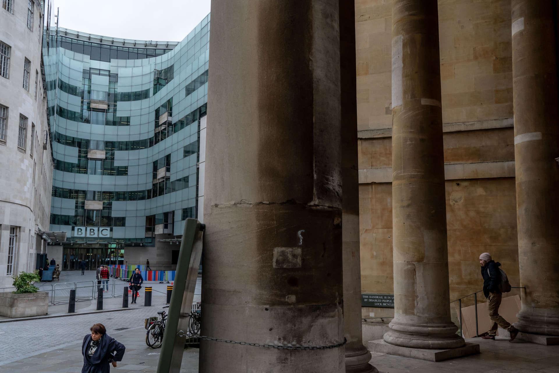 L'immeuble en verre de la BBC, dans le quartier de Marylebone, à Londres.