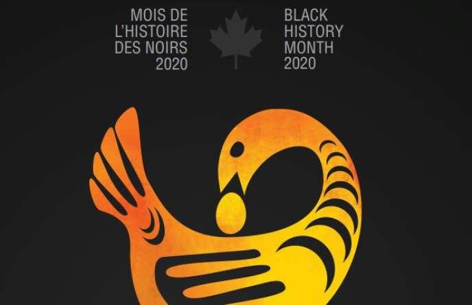 Affiche officielle du Mois de l'histoire des Noirs 2020 organisé par le Patrimoine canadien, l'équivalent du ministère de la culture.