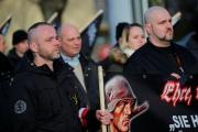 Une manifestation extrême droite, après le 75eme anniversaire du bombardement de Dresden, le 15 février en Allemagne.