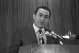 L'ancien président égyptien Hosni Moubarak,en 1985 au Caire.