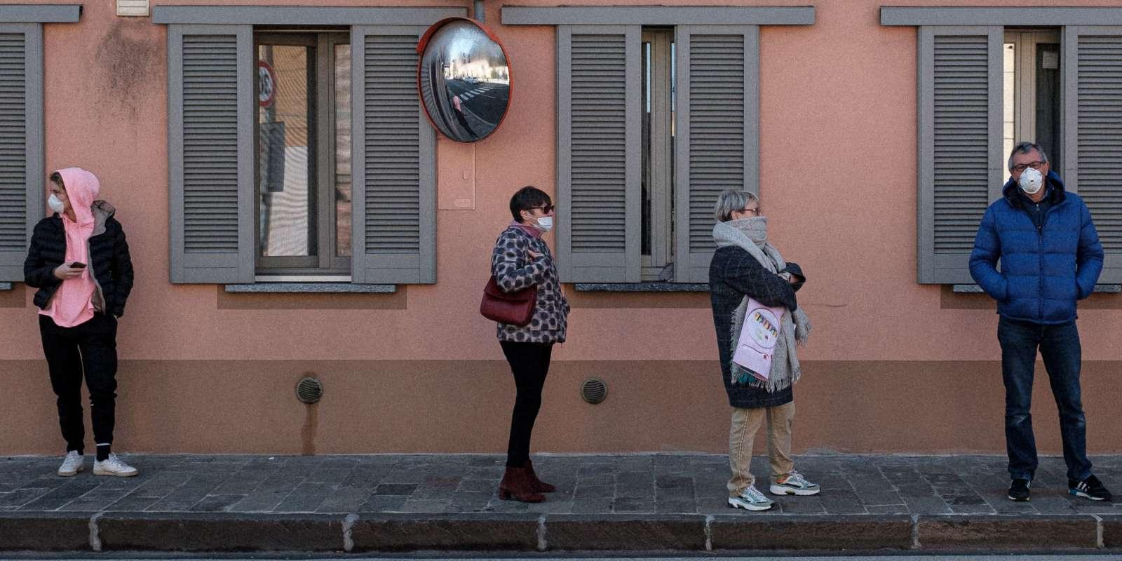 A San Fiorano, une des villes confinées en Italie, le 24 février.