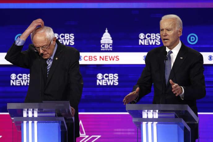 Bernie Sanders et Joe Biden le 25 février à Charleston, Caroline du Sud.