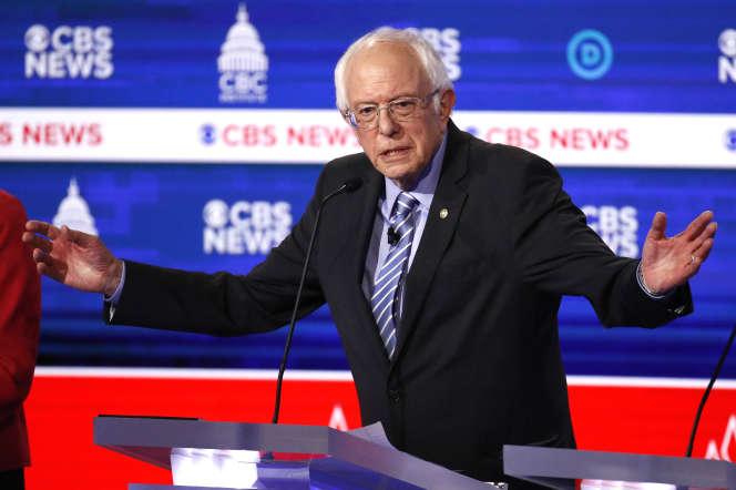Bernie Sanders, lors du débatà Charleston (Caroline du Sud), le 25 février.