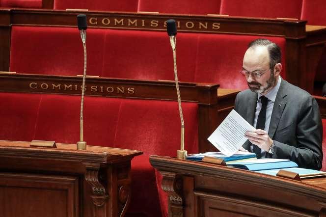 Edouard Philippe à l'Assemblée nationale, le 25 février.