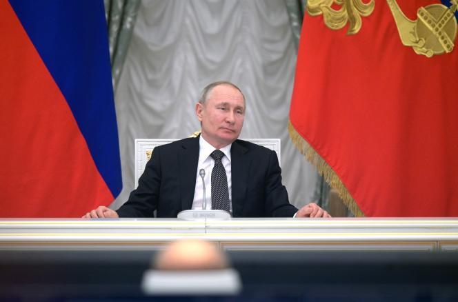 Le président russe, Vladimir Poutine,le 26 février à Moscou.