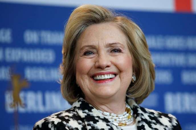 Hillary Clinton en conférence de presse, lors de l'avant-première du film« Hillary»à la Berlinale, le 25 février à Berlin.