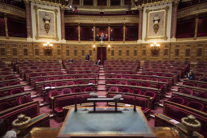 L'hémicycle du Sénat, le 17 novembre 2016, à Paris.