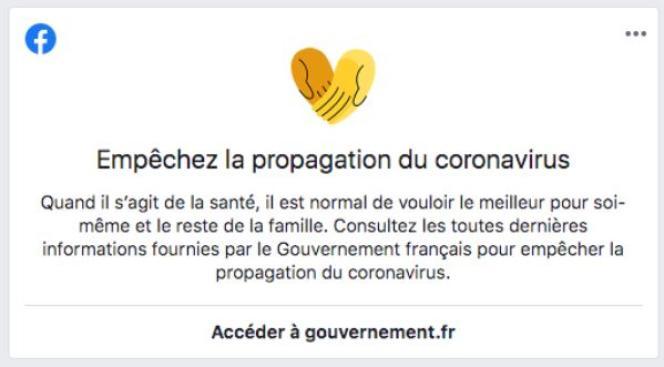 Ce message apparaît régulièrementdans le fil d'actualité des utilisateurs français de Facebook.
