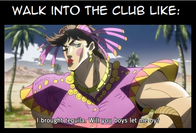 «Tequila Joseph»est l'un des mèmes empruntés à« JoJo's Bizarre Adventure».