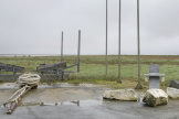 Vue sur le port du Pavé à Charron, le 24 février. A droite, la stèle en hommage aux victimes de la tempête Xynthia en 2010.