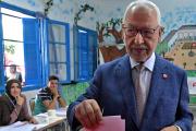 Rached Ghannouchi, le président du mouvement islamiste tunisienEnnahda, en septembre 2019, près de Tunis.