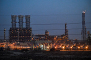 La raffinerie deJubail , en Arabie saoudite, en décembre 2019.