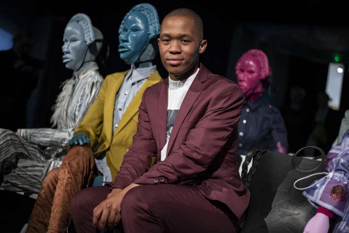 Le créateur sud-africain Thebe Magugu à Paris, le 25 février 2020.
