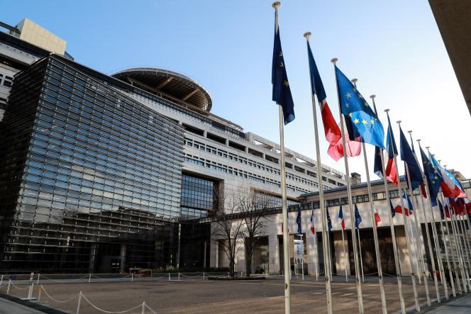 Le ministère de l'économie et des finances, à Paris, en février 2020.