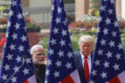 Donald Trump et le premier ministre indien Narendra Modi à New Delhi, le 25 février.