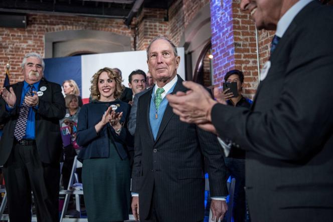 Mike Bloomberg en campagne à El Paso, au Texas, le 29 janvier.