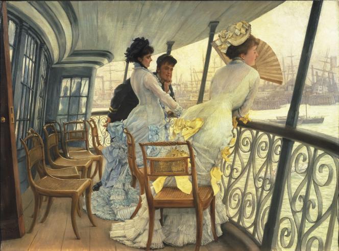 «La Galerie du HMS Calcutta (Portsmouth)» (vers 1876), de James Tissot (1836-1902).