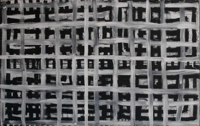 « Grid» (« Grille», 1983, peinture acrylique sur toile), du peintre et vidéaste israélien David Reeb.