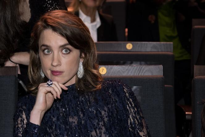 L'actrice Adèle Haenel à la 45e cérémonie des Césars le 28 février à Paris.