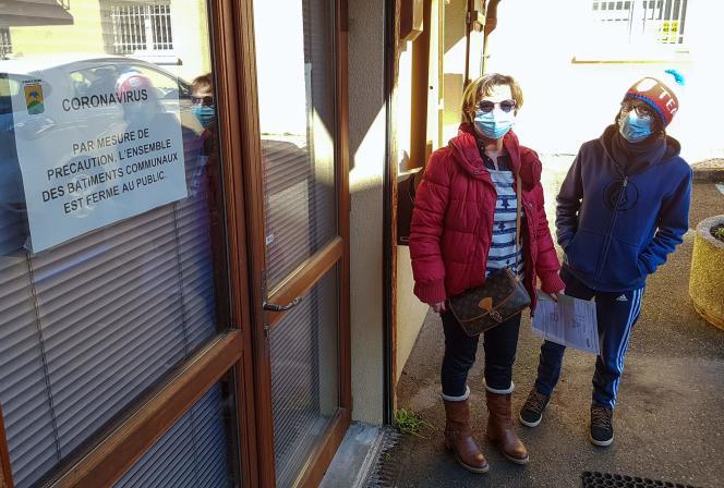 Dans le village de La Balme-de-Sillingy (Haute-Savoie), vendredi 28 février.