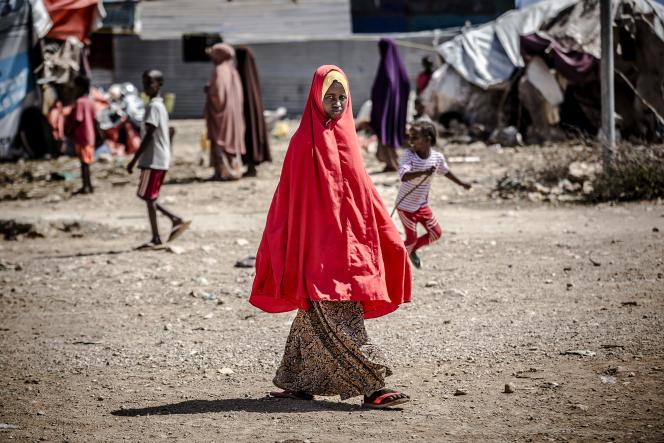 Dans le camp de déplacés de Beledweyne, dans le centre de la Somalie, le 14 décembre 2019.