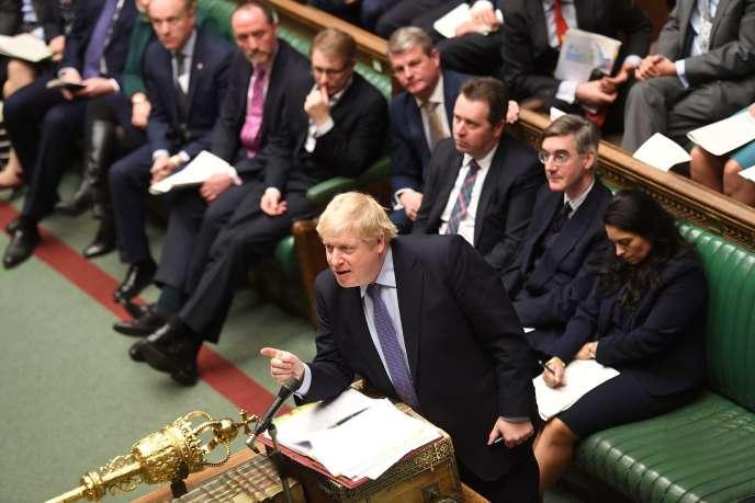 Boris Johnson, le 26 février à la Chambre des communes.