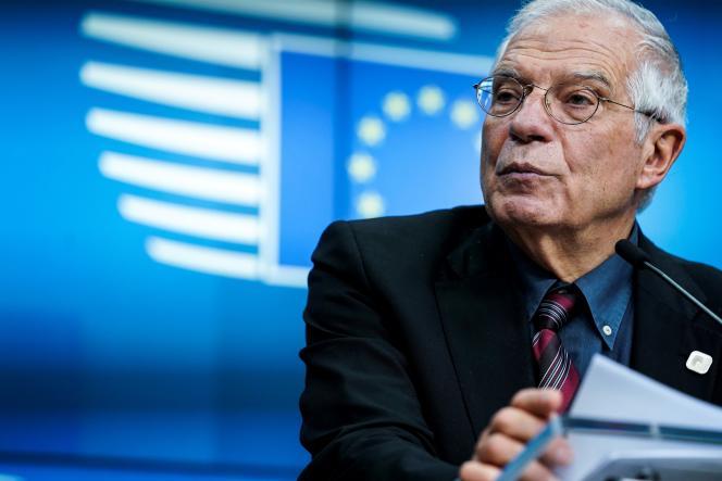 Josep Borrell, haut représentant de l'Union européenne pour les affaires extérieures et la politique de sécurité, le 17 février 2020, à Bruxelles.