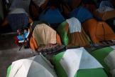 Un camp improvisé de migrants à Tijuana, en Baja California, le vendredi 28 février.
