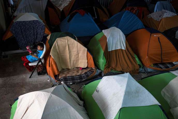 Un camp improvisé de migrants à Tijuana, en Basse-Californie, le vendredi 28février.