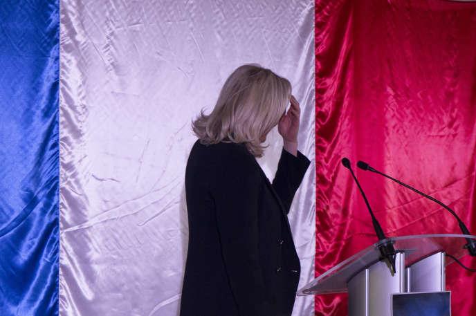 Marine le Pen lors d'un discours prononcé à Lens (Pas-de-Calais), le 29 février.