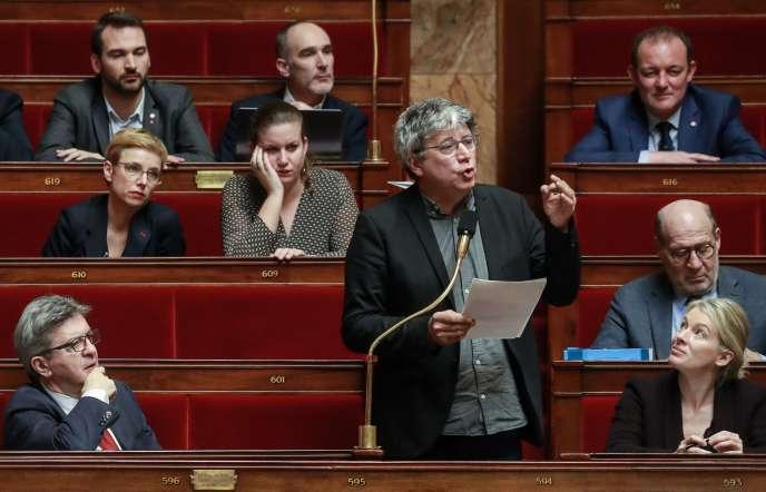 Des députés du groupe La France insoumise, à l'Assemblée nationale, le 25 février.