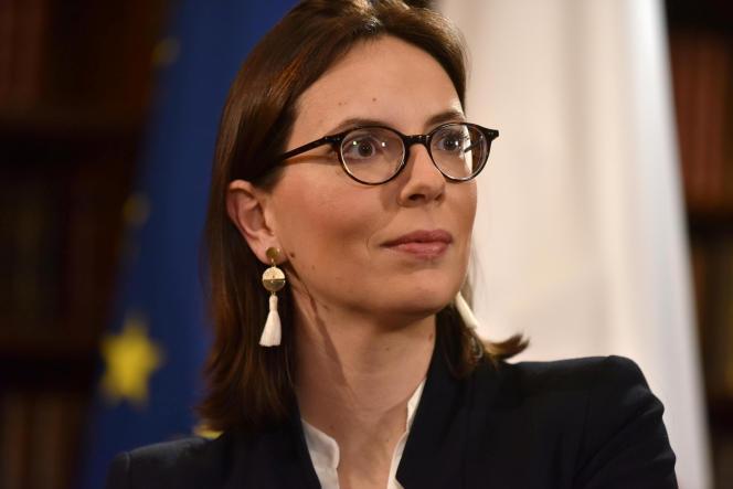 Amélie de Montchalin, secrétaire d'Etat aux affaires européennes, le 1er mars à Londres.