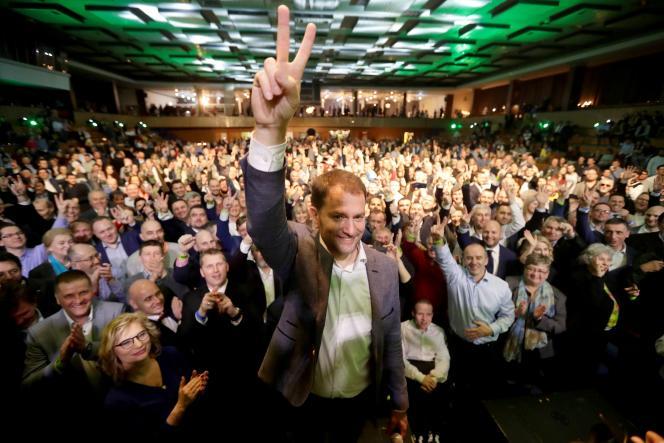 Igor Matovic, dirigeant duMouvement des gens ordinaires et des personnalités indépendantes (Olano), à Trnava, le 1er mars.