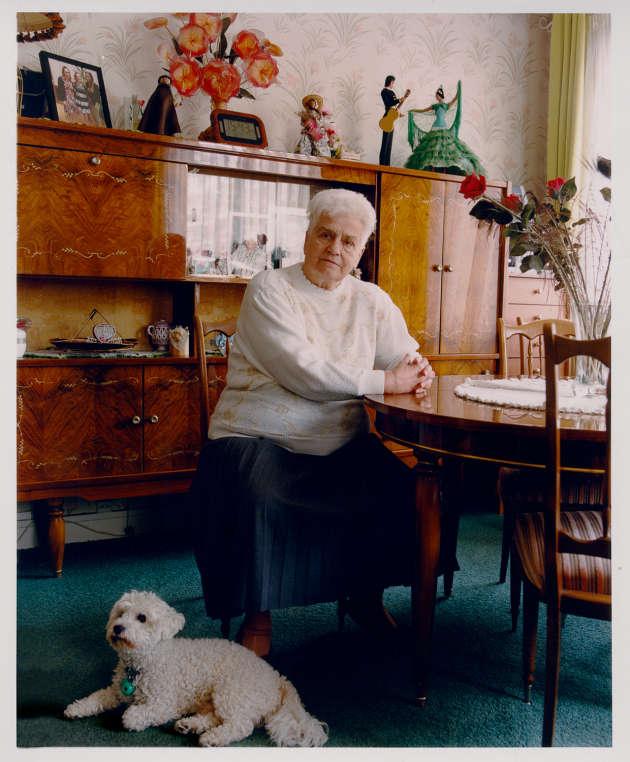 Mme Bellengreville, habitante d'une HBM du quartier Bel-Air, Paris 12e.