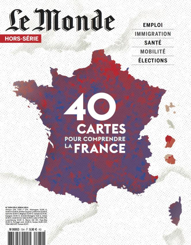 « 40 cartes pour comprendre la France», hors-série du «Monde», 116pages, 9,90euros.