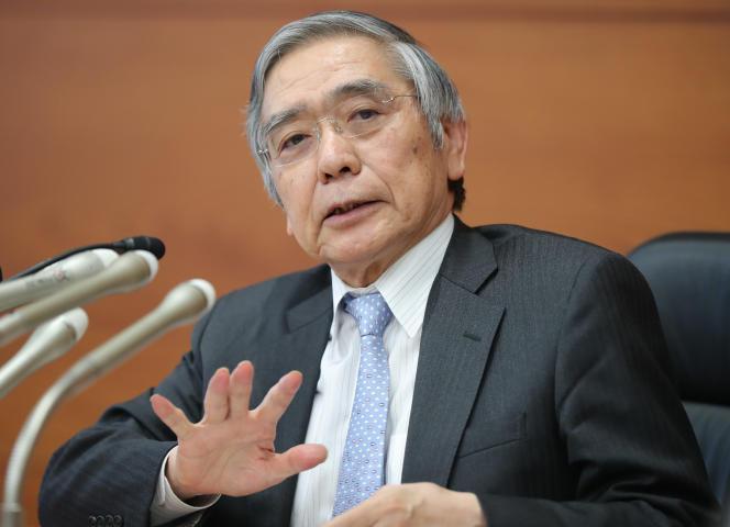 Haruhiko Kuroda, le gouverneur de la Banque du Japon, à Tokyo, le 31 octobre 2019.