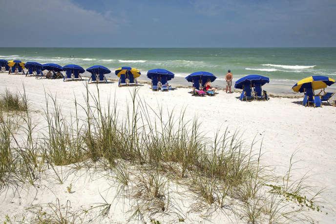 Une plage de Floride, le long du golfe du Mexique, en 2008.