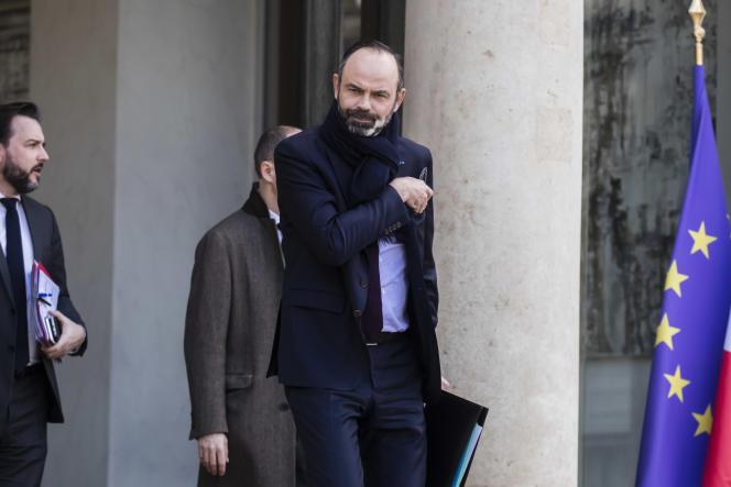 Edouard Philippe à la sortie du conseil des ministres su 29 février.